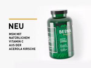 MSM versetzt mit Vitamin C au der Acerola Kirsche
